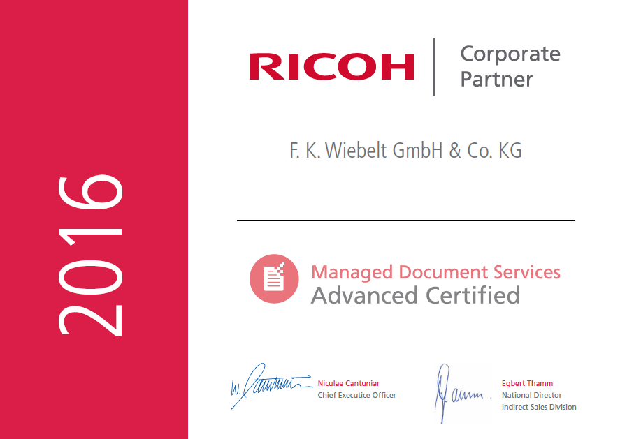 Ricoh Corporate Partner